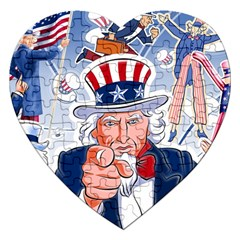 Independence Day United States Of America Jigsaw Puzzle (heart)