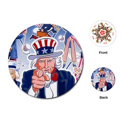 Independence Day United States Of America Playing Cards (round)