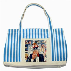 Independence Day United States Of America Striped Blue Tote Bag