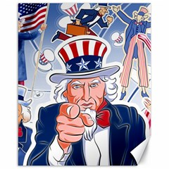 Independence Day United States Of America Canvas 16  X 20