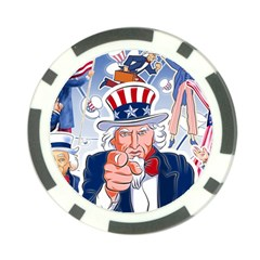 Independence Day United States Of America Poker Chip Card Guard