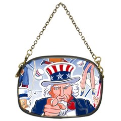 Independence Day United States Of America Chain Purses (two Sides)
