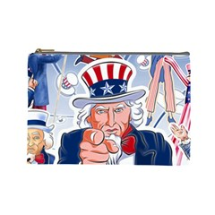 Independence Day United States Of America Cosmetic Bag (large)