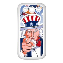 Independence Day United States Of America Samsung Galaxy S3 Back Case (white)