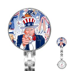 Independence Day United States Of America Stainless Steel Nurses Watch