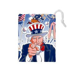Independence Day United States Of America Drawstring Pouches (medium)