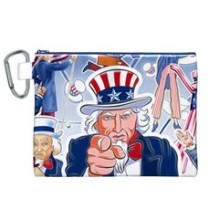 Independence Day United States Of America Canvas Cosmetic Bag (xl)