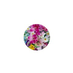 Colorful Flowers Patterns 1  Mini Buttons
