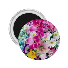 Colorful Flowers Patterns 2 25  Magnets