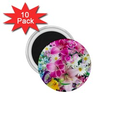 Colorful Flowers Patterns 1 75  Magnets (10 Pack)