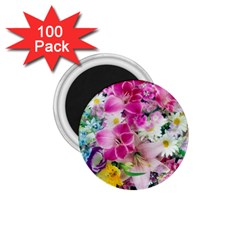 Colorful Flowers Patterns 1 75  Magnets (100 Pack)