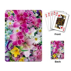 Colorful Flowers Patterns Playing Card