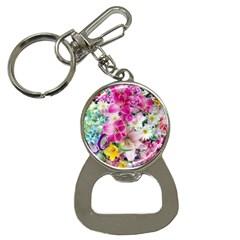 Colorful Flowers Patterns Button Necklaces