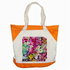 Colorful Flowers Patterns Accent Tote Bag