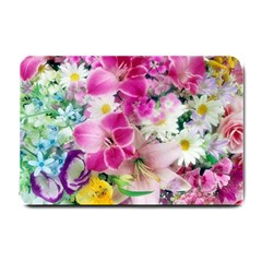 Colorful Flowers Patterns Small Doormat