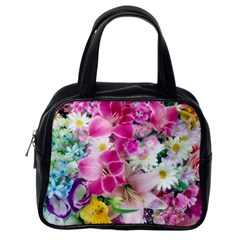 Colorful Flowers Patterns Classic Handbags (one Side)