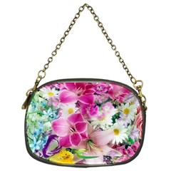 Colorful Flowers Patterns Chain Purses (one Side)