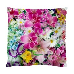 Colorful Flowers Patterns Standard Cushion Case (two Sides)