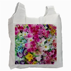 Colorful Flowers Patterns Recycle Bag (two Side)