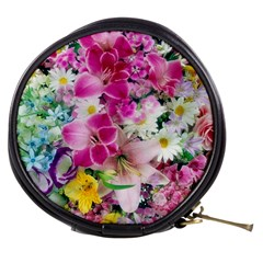 Colorful Flowers Patterns Mini Makeup Bags