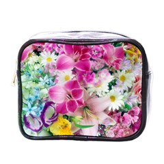 Colorful Flowers Patterns Mini Toiletries Bags