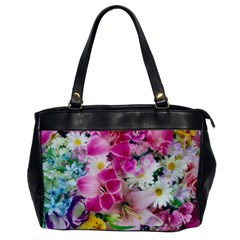 Colorful Flowers Patterns Office Handbags