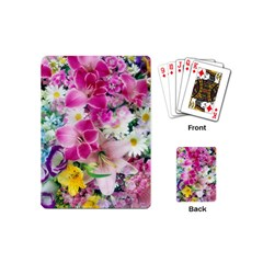 Colorful Flowers Patterns Playing Cards (mini)