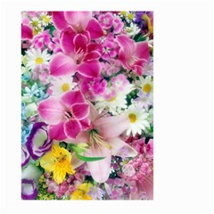 Colorful Flowers Patterns Large Garden Flag (two Sides)