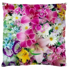 Colorful Flowers Patterns Large Cushion Case (one Side)