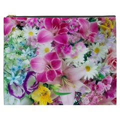 Colorful Flowers Patterns Cosmetic Bag (xxxl)