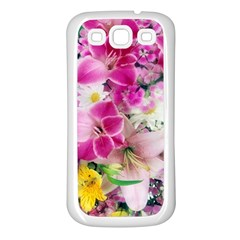 Colorful Flowers Patterns Samsung Galaxy S3 Back Case (white)