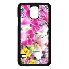 Colorful Flowers Patterns Samsung Galaxy S5 Case (black)