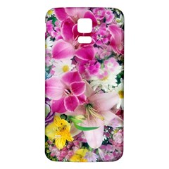 Colorful Flowers Patterns Samsung Galaxy S5 Back Case (white)
