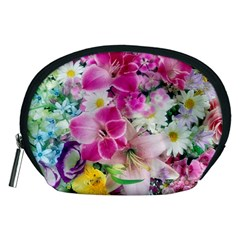 Colorful Flowers Patterns Accessory Pouches (medium)