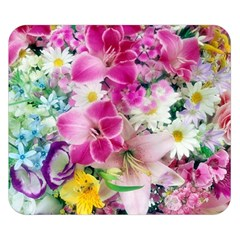 Colorful Flowers Patterns Double Sided Flano Blanket (small)