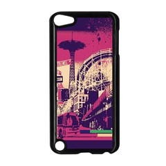 Pink City Retro Vintage Futurism Art Apple Ipod Touch 5 Case (black)