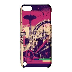 Pink City Retro Vintage Futurism Art Apple Ipod Touch 5 Hardshell Case With Stand
