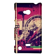 Pink City Retro Vintage Futurism Art Nokia Lumia 720