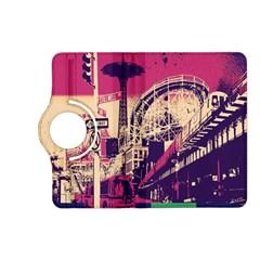 Pink City Retro Vintage Futurism Art Kindle Fire Hd (2013) Flip 360 Case