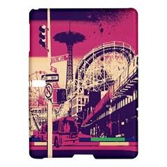 Pink City Retro Vintage Futurism Art Samsung Galaxy Tab S (10 5 ) Hardshell Case