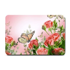 Flora Butterfly Roses Small Doormat