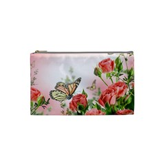 Flora Butterfly Roses Cosmetic Bag (small)