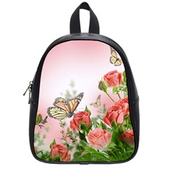 Flora Butterfly Roses School Bags (small)