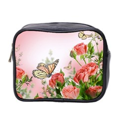 Flora Butterfly Roses Mini Toiletries Bag 2 Side