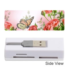 Flora Butterfly Roses Memory Card Reader (stick)