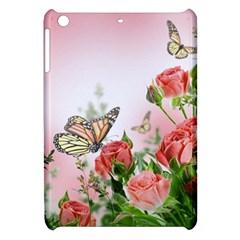 Flora Butterfly Roses Apple Ipad Mini Hardshell Case