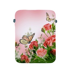 Flora Butterfly Roses Apple Ipad 2/3/4 Protective Soft Cases