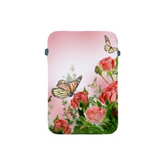 Flora Butterfly Roses Apple Ipad Mini Protective Soft Cases