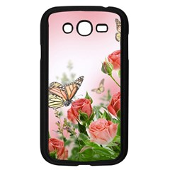 Flora Butterfly Roses Samsung Galaxy Grand Duos I9082 Case (black)