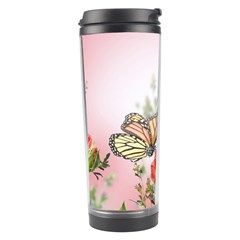 Flora Butterfly Roses Travel Tumbler